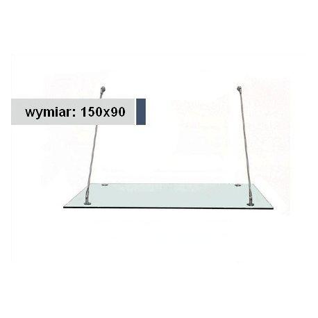 Daszek szklany 150x90