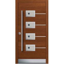 Drzwi P INOX 1 (DĄB)