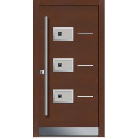 Drzwi P INOX 4 (DĄB)