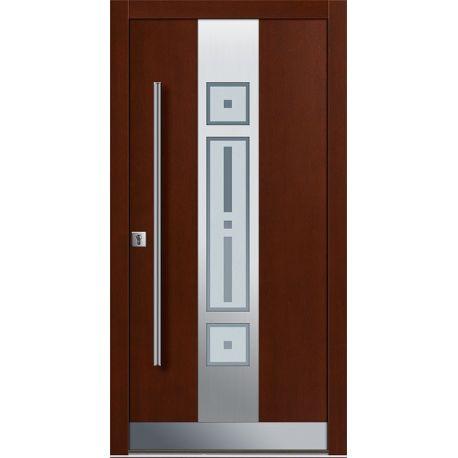 Drzwi P INOX 5 (DĄB)