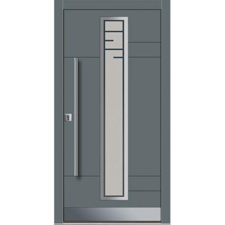 Drzwi P INOX 7 (DĄB)