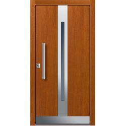 Drzwi P INOX 9 (DĄB)