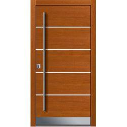 Drzwi P INOX 10 (DĄB)