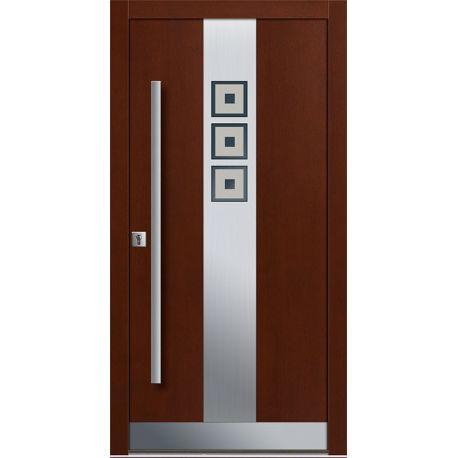 Drzwi P INOX 12 (DĄB)