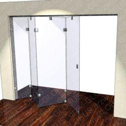 Drzwi szklane przesuwne system ZET 1 (na wymiar)