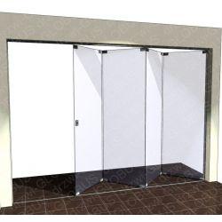 Drzwi szklane przesuwne system ZET 2 (na wymiar)