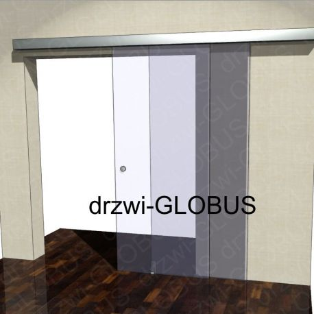 Drzwi szklane przesuwne system DUO (na wymiar)