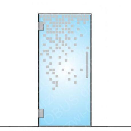 Drzwi szklane wahadłowe wzór piaskowany P39 ( drzwi na wymiar)