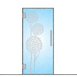Drzwi szklane wahadłowe wzór piaskowany P80 ( drzwi na wymiar)