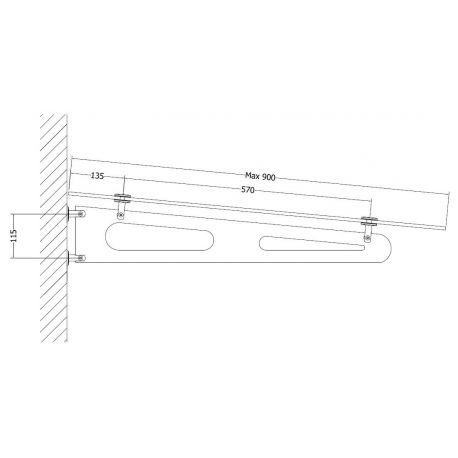 V-4 B 900 Okucie do daszku szklanego