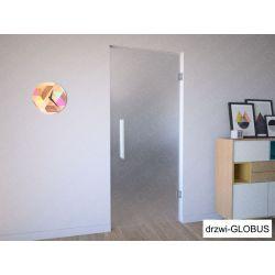 Drzwi szklane wahadłowe mocowane do ściany (na wymiar)