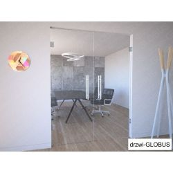 Drzwi szklane dwuskrzydłowe wahadłowe przeźroczyste na wymiar
