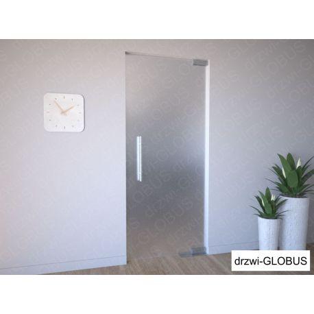 Drzwi szklane wahadłowe mocowane GÓRA/DÓŁ bez futryny (na wymiar)