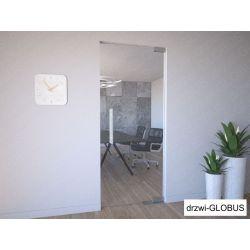 Drzwi szklane wahadłowe przeźroczyste mocowane GÓRA/DÓŁ samozamykacz wkuwany (na wymiar)
