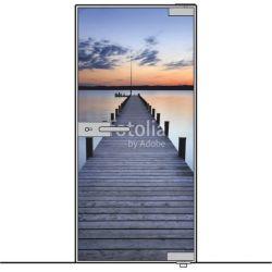 Drzwi szklane bez ościeżnicy - mocowane GÓRA DÓŁ + wzór kolorowy na wymiar