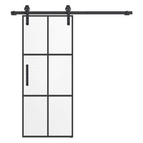 Drzwi szklane przesuwne system RUROWY LOFT 4 (na wymiar)