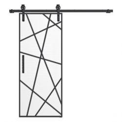 Drzwi szklane przesuwne system RUROWY LOFT 5 (na wymiar)