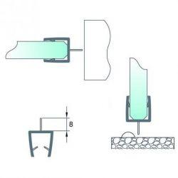 Uszczelka do kabiny prysznicowej - z środkowym piórem