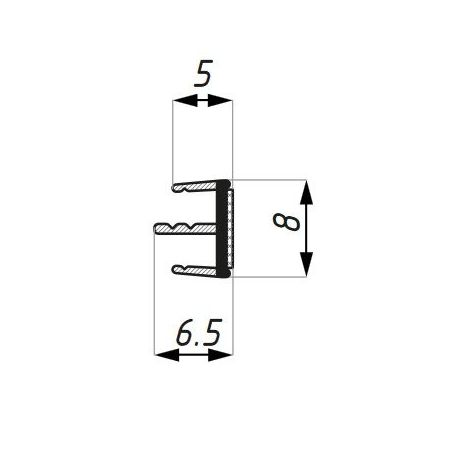 Uszczelka naklejana - środkowe pióra