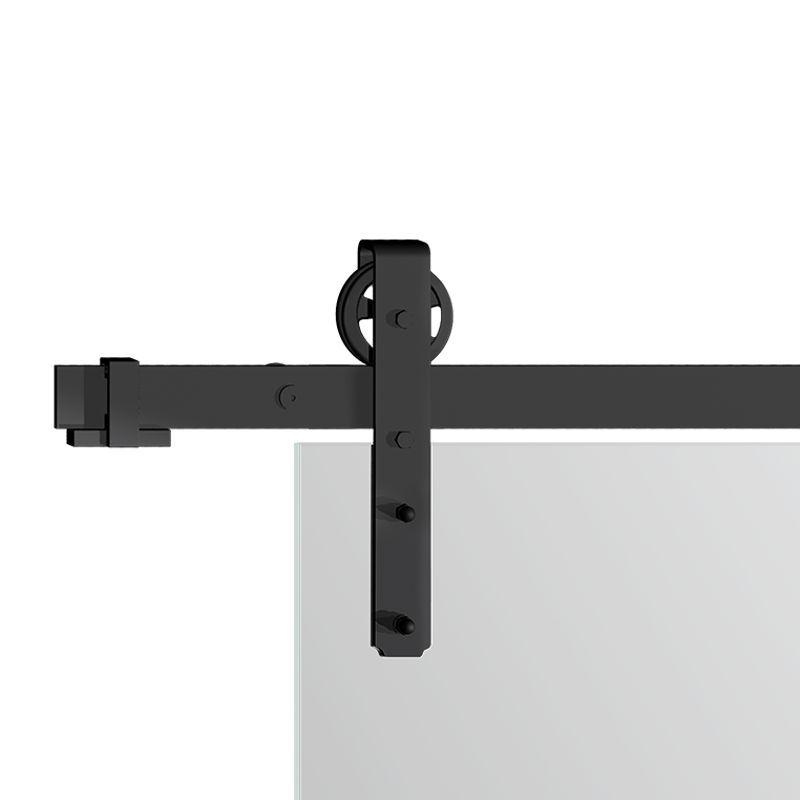 Drzwi szklane przesuwne system RUROWY LOFT dwuskrzydłowy (na wymiar)