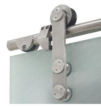 Drzwi szklane przesuwne system RUROWY 1 + wzór p80
