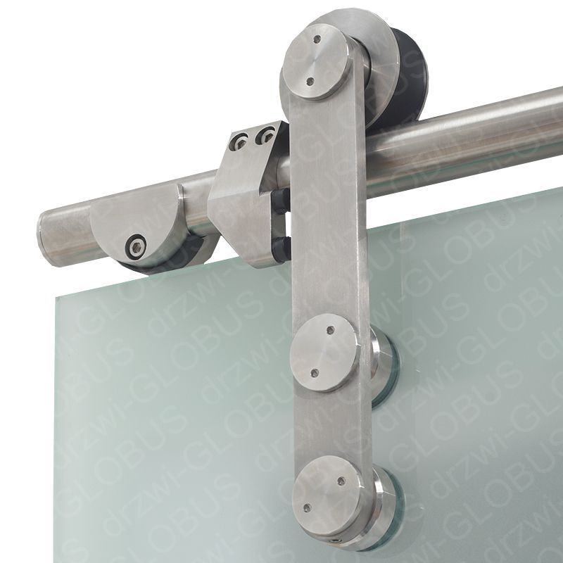 Drzwi szklane przesuwne dwuskrzydłowe system RUROWY na wymiar