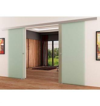 Drzwi szklane przesuwne dwuskrzydłowe system PRESTIGE (na wymiar)