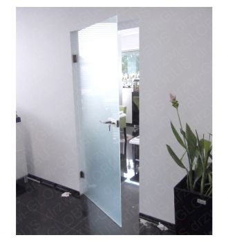 Drzwi szklane bez ościeżnicy - mocowane DO ŚCIANY (na wymiar)