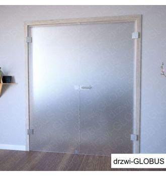 Drzwi szklane otwierane dwuskrzydłowe matowe na wymiar zdjęcie 1