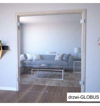 Drzwi szklane otwierane dwuskrzydłowe matowe na wymiar zdjęcie 2