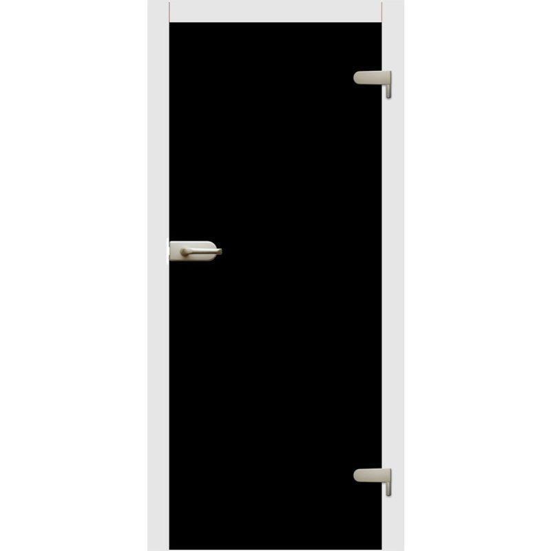 Drzwi szklane otwierane CZARNE lub BIAŁE (na wymiar)