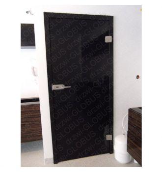 Drzwi szklane otwierane CZARNE lub BIAŁE zdjęcie z realizacji