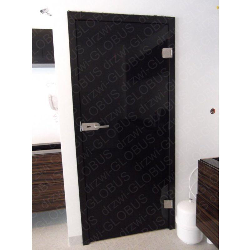Drzwi szklane otwierane CZARNE (na wymiar)