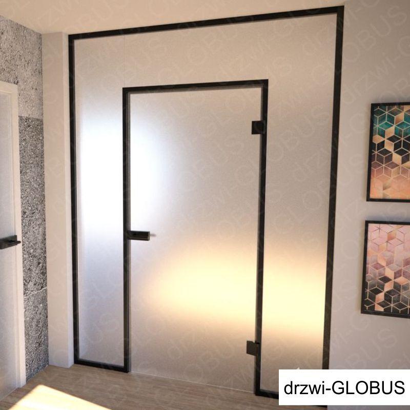 Zabudowa szklana LOFT z drzwiami otwieranymi (na wymiar)