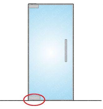 Drzwi szklane wahadłowe mocowane GÓRA/DÓŁ bez wkuwania ! (na wymiar)