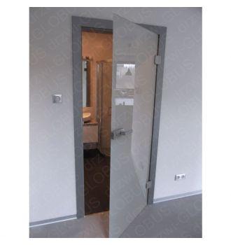 Drzwi szklane otwierane MLECZNE - WC zdjęcie z realizacji 1