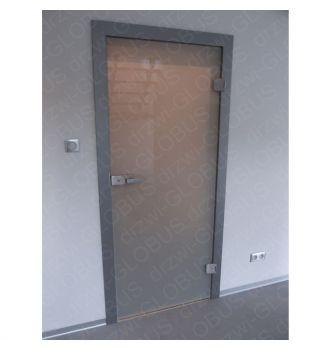 Drzwi szklane otwierane MLECZNE - WC zdjęcie z realizacji 2