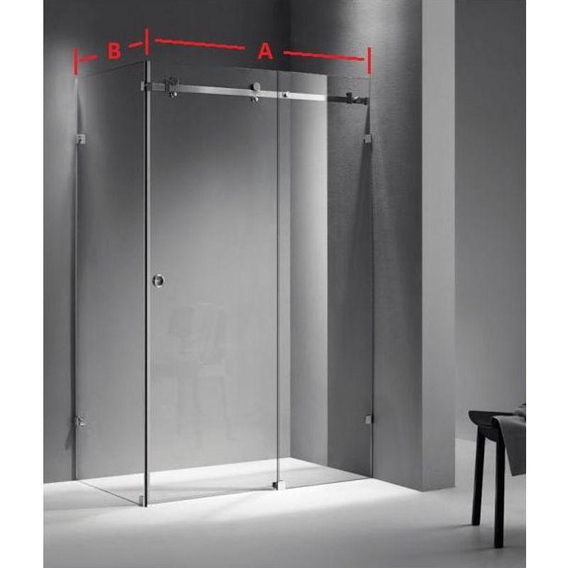 Kabina prysznicowa przesuwna narożna 1 (na wymiar)
