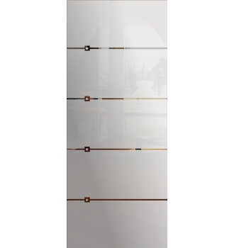 Wzór piaskowany nr 11 na drzwi szklane