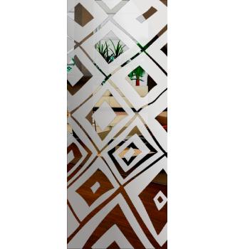 Wzór piaskowany nr 34 na drzwi szklane