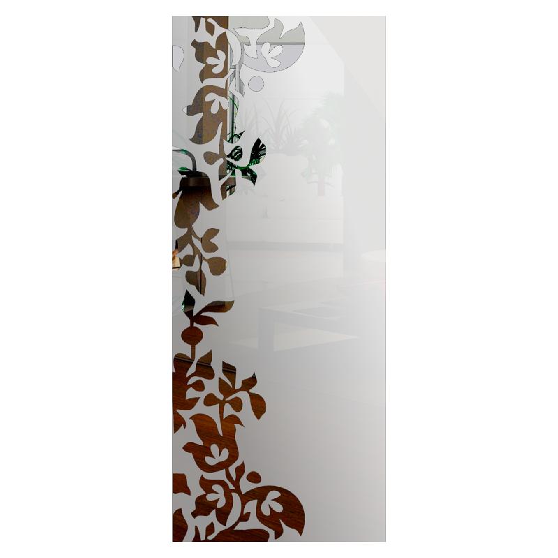 Wzór piaskowany nr 36 na drzwi szklane