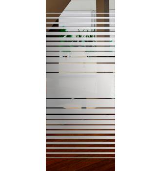 Wzór piaskowany nr 55 na drzwi szklane