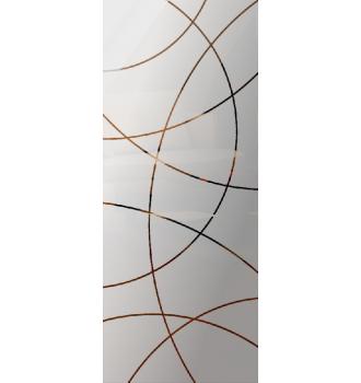 Wzór piaskowany nr 61 na drzwi szklane