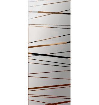 Wzór piaskowany nr 62 na drzwi szklane
