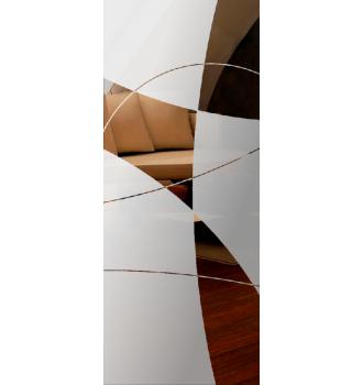 Wzór piaskowany nr 64 na drzwi szklane