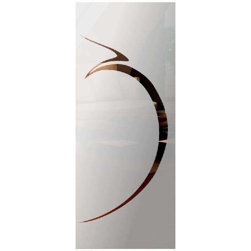 Wzór piaskowany nr 68 na drzwi szklane