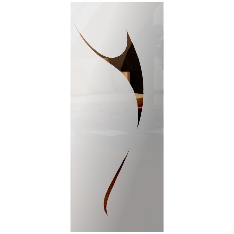 Wzór piaskowany nr 69 na drzwi szklane