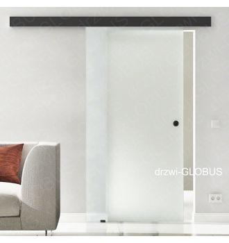 Drzwi szklane przesuwne system OPTIMUM LOFT na wymiar szkło matowe
