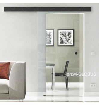 Drzwi szklane przesuwne system OPTIMUM LOFT na wymiar szkło przeźroczyste