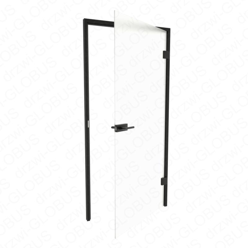 Drzwi szklane otwierane LOFT bez ramowe + czarna futryna (na wymiar)